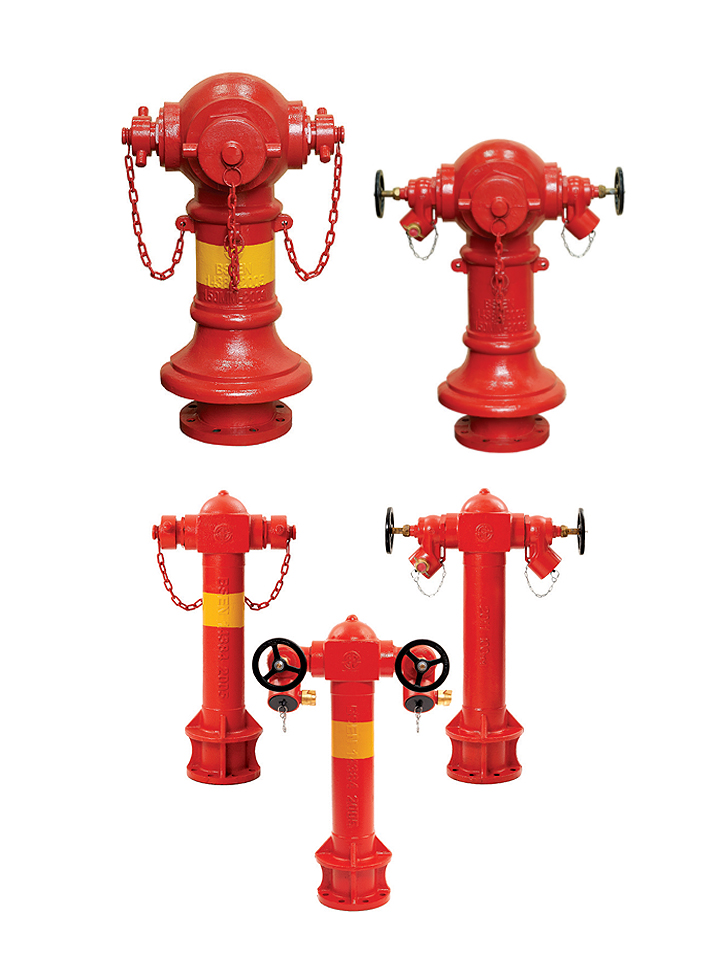 19 PILLAR HYDRANTS